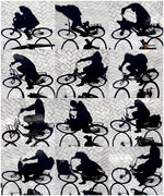 Cyclists shadow,