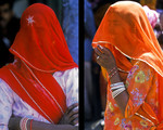 Veiled women Rajasth